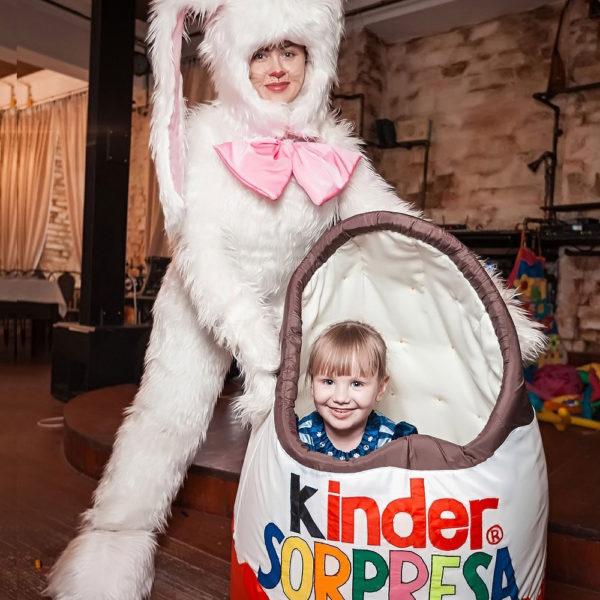Заяц + яйцо киндер сюрприз
